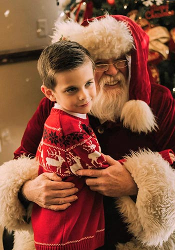 Kiddi Kollege Boy With Santa